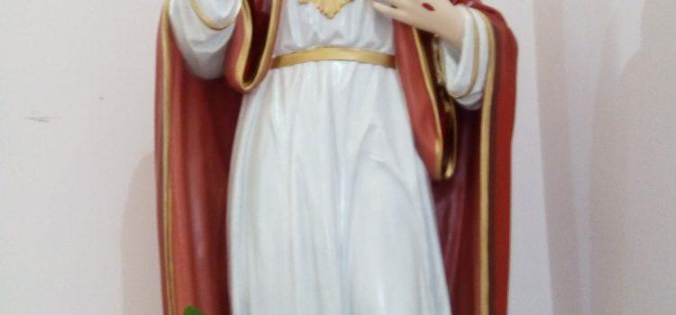 Obnovljen kip Presv. Srca Isusova