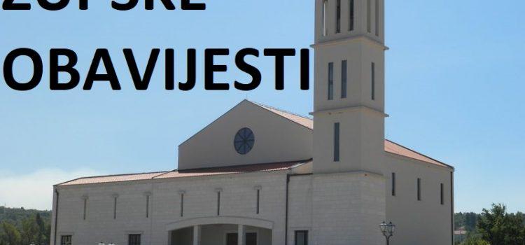 ŽUPSKE OBAVIJESTI: Nedjelja, 9.2.2020. (Peta nedjelja kroz godinu)
