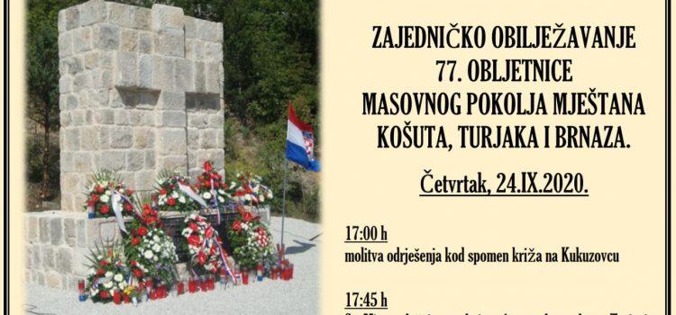 Zajedničko obilježavanje 77. obljetnice masovnog pokolja na Kukuzovcu